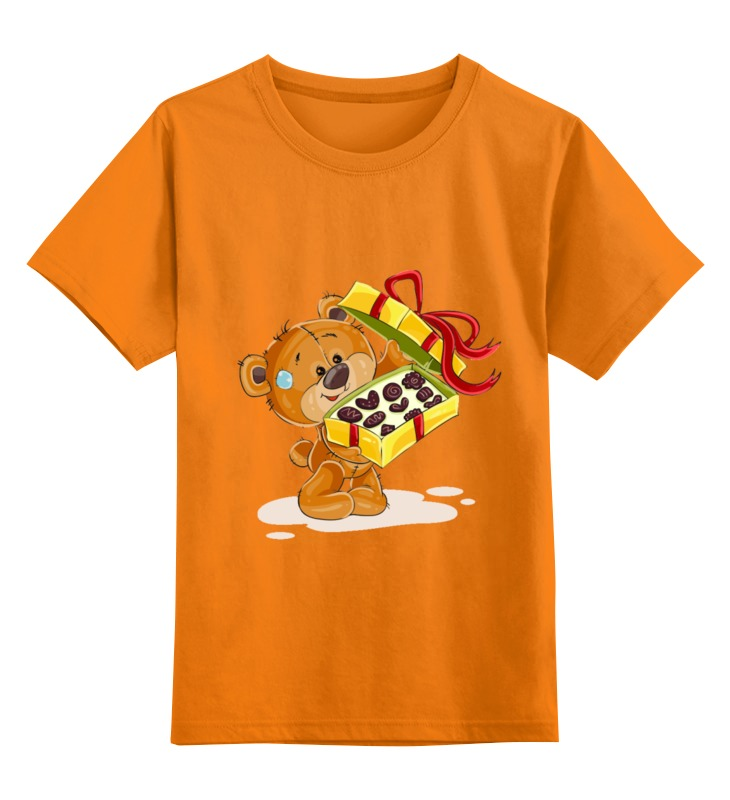 Детская футболка Printio Мишка тэдди цв.оранжевый р.152 0000002431162 по цене 990