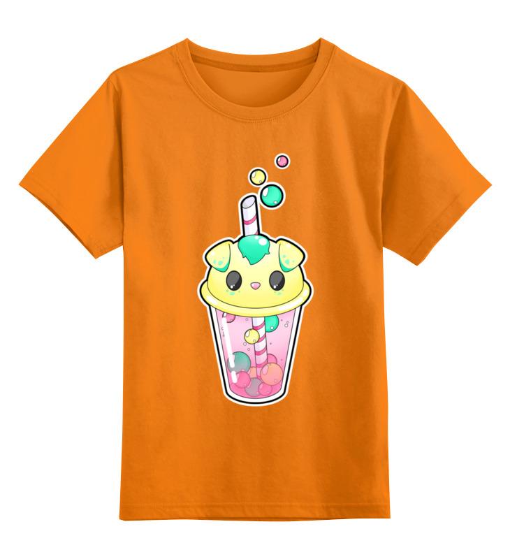 0000002443393, Детская футболка Printio Пузырьковое настроениепесик цв.оранжевый р.152,  - купить со скидкой