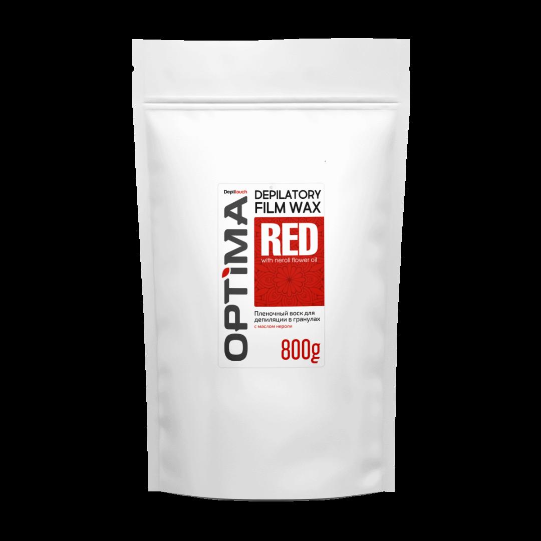 Купить Воск для депиляции пленочный Depiltouch Optima Depilatory Film Wax Red в гранулах 800 гр