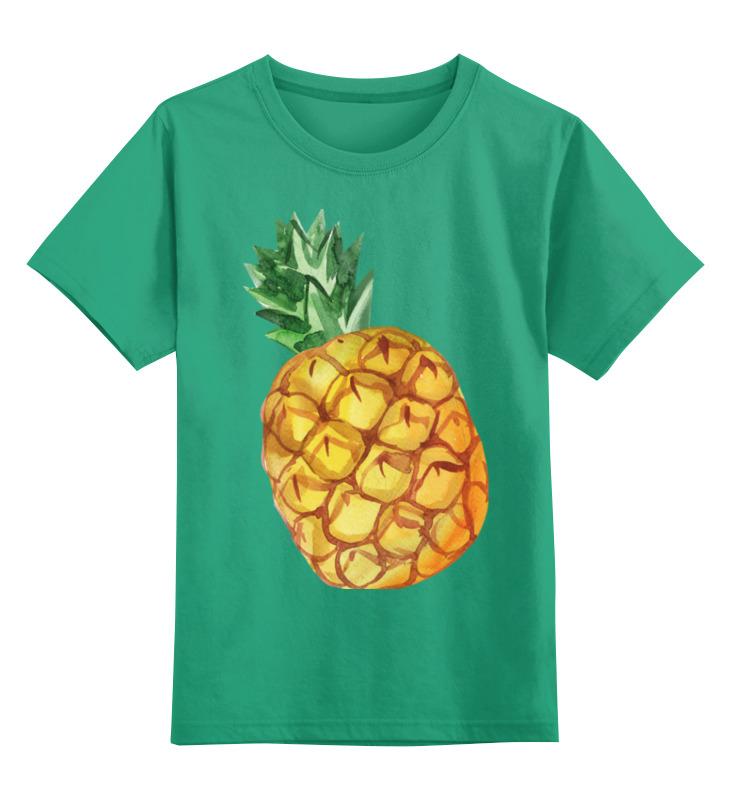 Купить 0000002500136, Детская футболка Printio Ананас цв.зеленый р.152,