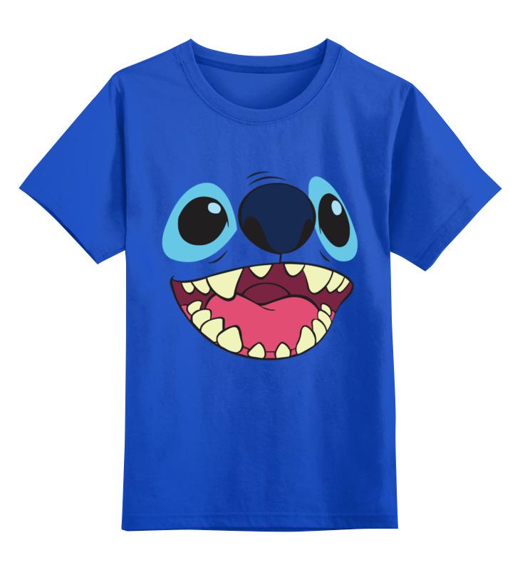 Купить 0000002737368, Детская футболка Printio Стич. цв.синий р.140,