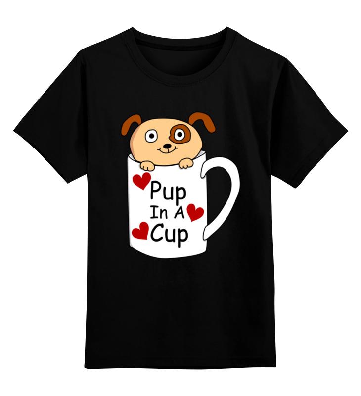 Детская футболка Printio Собачка цв.черный р.152 0000002316240 по цене 990
