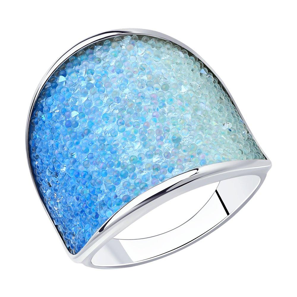 Кольцо из серебра с swarovski р. 18 SOKOLOV 94013329, 94013329