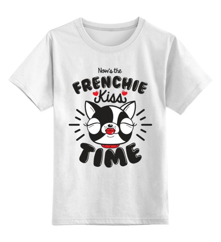 Детская футболка Printio Французский бульдог цв.белый р.152 0000002363743 по цене 790