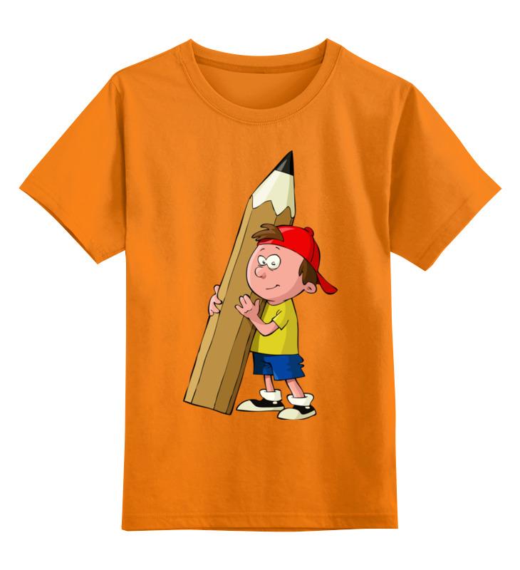 Купить 0000002529532, Детская футболка Printio Школа цв.оранжевый р.152,