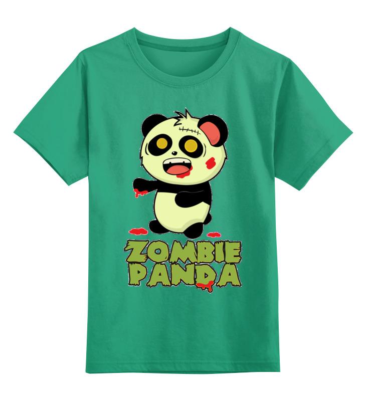 Детская футболка Printio Панда - зомби цв.зеленый р.140 0000002723173 по цене 990
