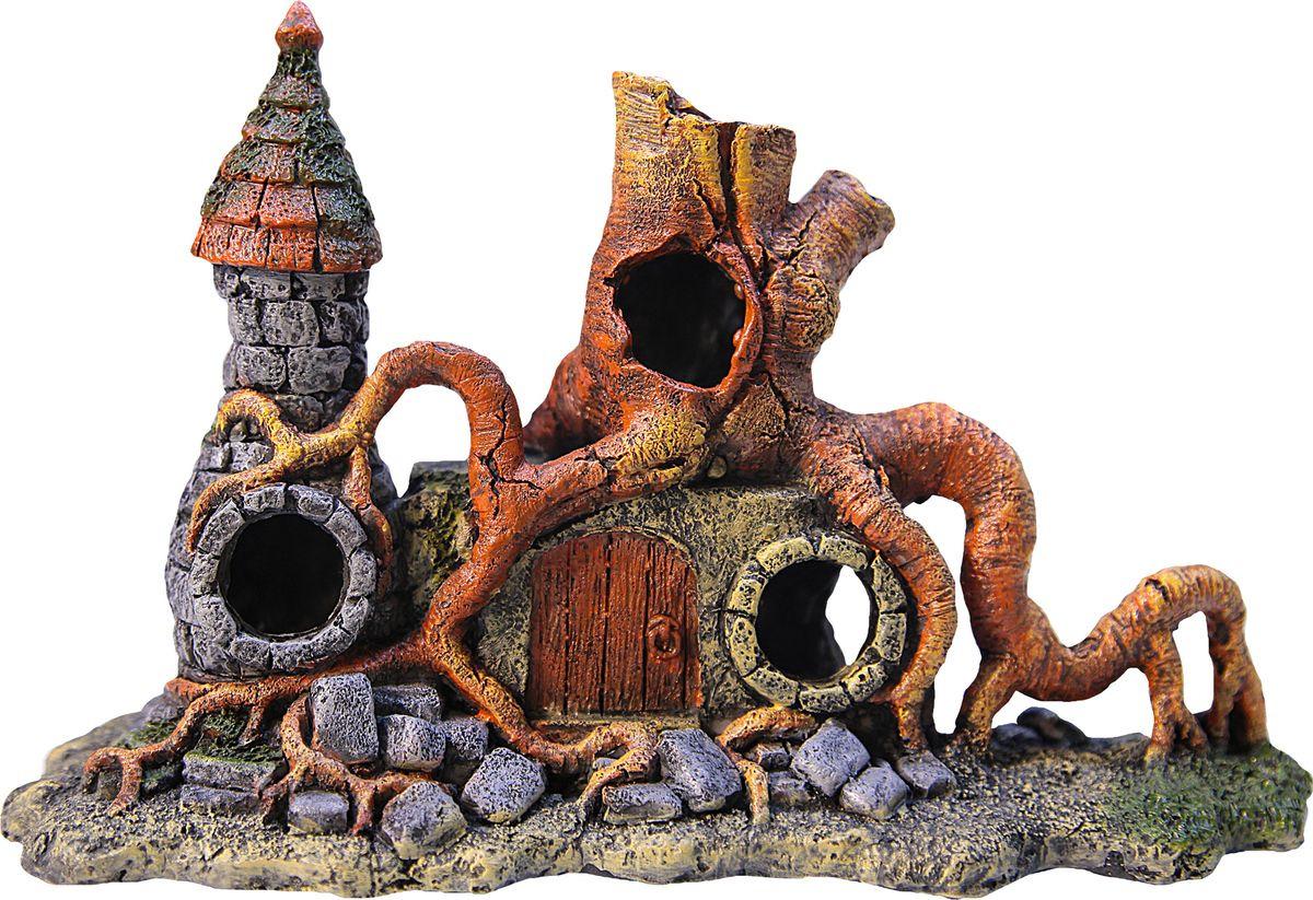Декорация для аквариума Fauna International Затерянный Замок,