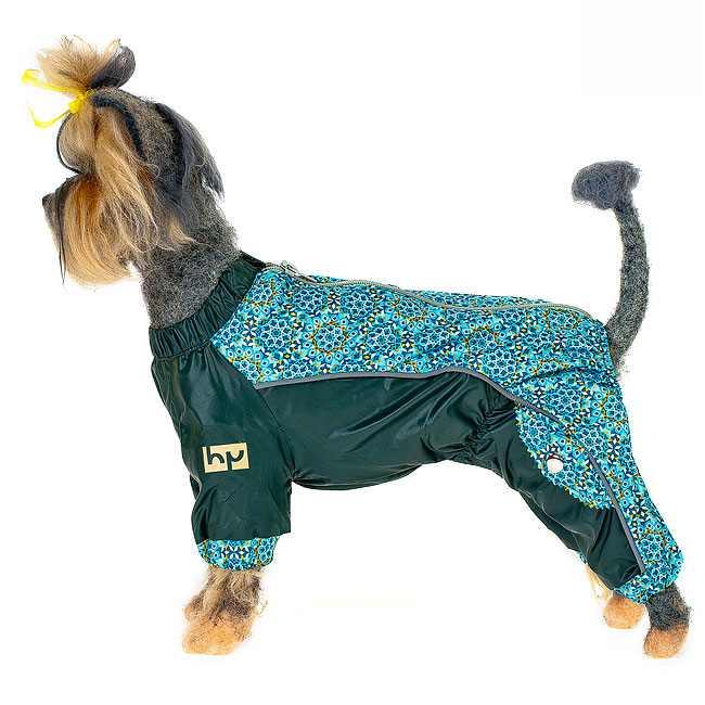 Комбинезон для собак Happy Puppy Самоцветы на подкладке женский зеленый размер M (2).
