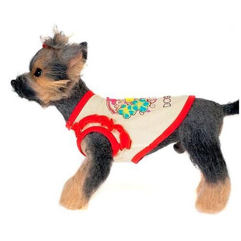 Майка для собак Happy Puppy Романтика, унисекс,