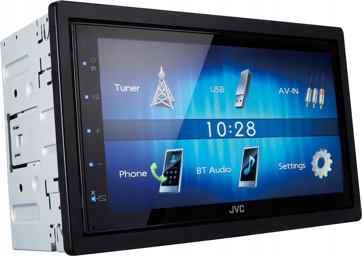 Автомагнитола CD, MP3 JVC KW-M24BT 4x50 Вт. USB, 2 DIN, Bluetooth