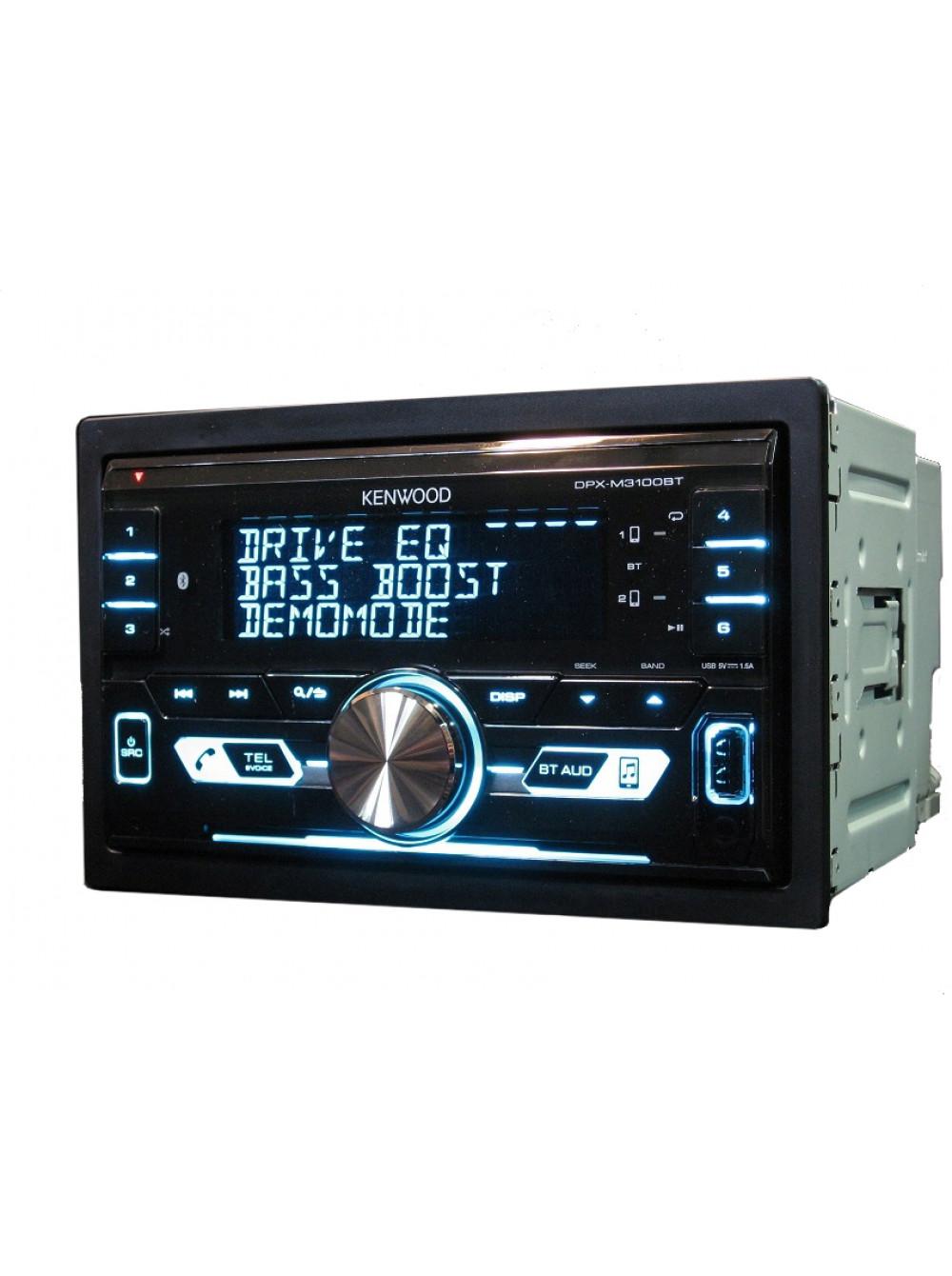 Автомагнитола KENWOOD DPX-M3100BT , 2DIN 4x50вт, Тюнер/Bluetooth(BT)/USB,Android/iPhone