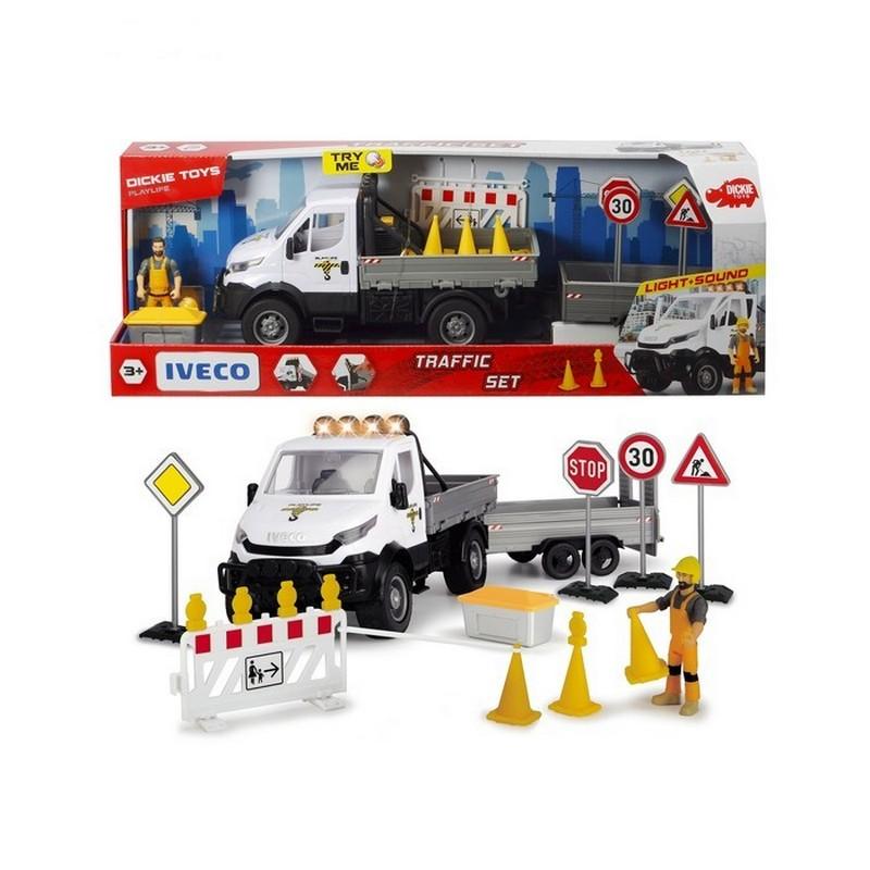 Купить Набор для ремонта дороги Dickie Playlife с дорожными знаками, 41.5 см, Dickie Toys,