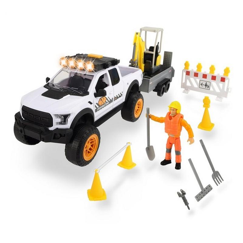 Купить Набор для ремонта дороги Dickie Playlife с экскаватором, 22 предмета, 40.5 см, Dickie Toys,