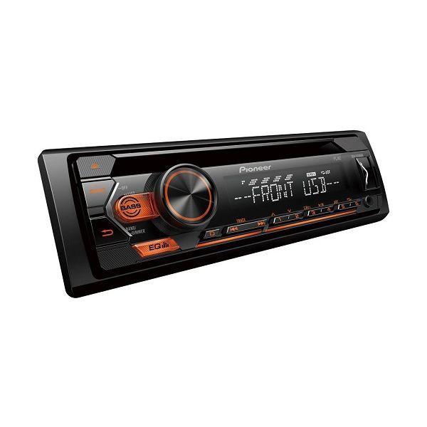 Автомагнитола PIONEER DEH-S120UBA, 4x50вт,USB/MP3/CD/Android, оранжевая подсветка