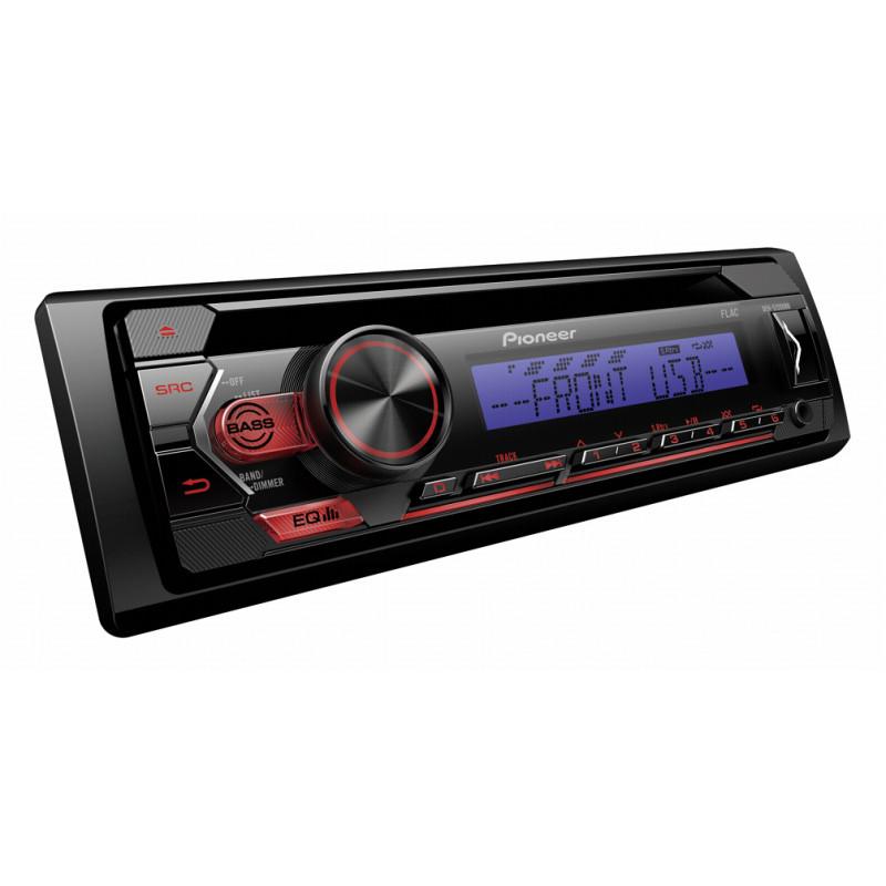 Автомагнитола PIONEER DEH-S120UBB, 4x50вт,USB/MP3/CD/Android, красн+син.