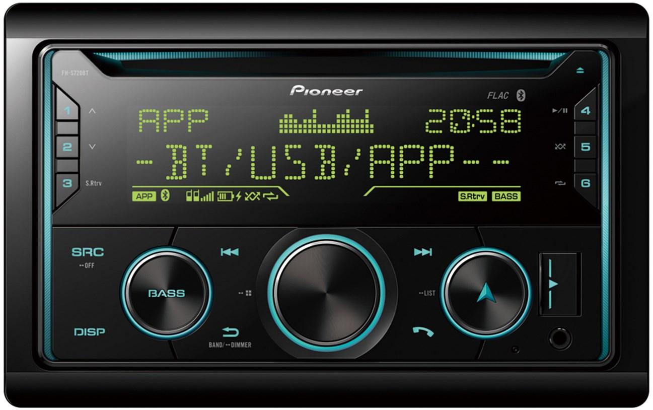 Автомагнитола PIONEER FH S720BT, 2 din,USB/MP3/CD/iPod/Android