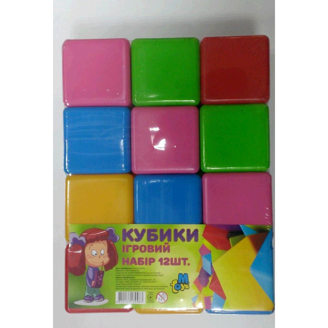 Купить Пластмассовые кубики Mtoys 12 шт., Развивающие кубики