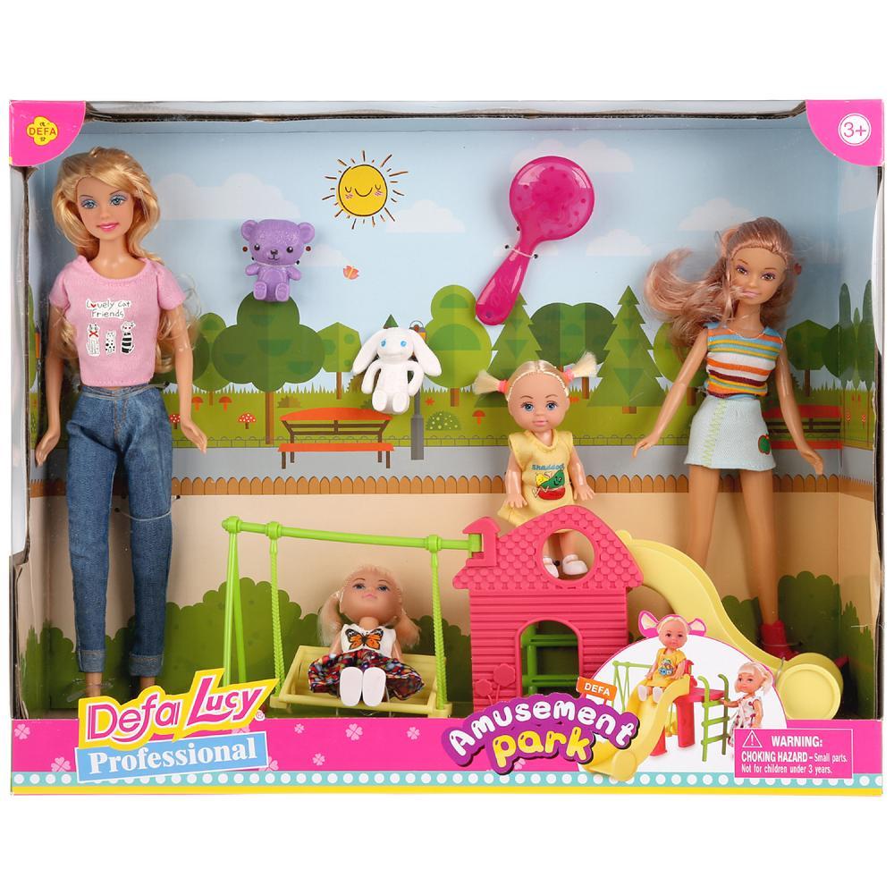 Купить Набор из 4 кукол Defa Lucy Дефа Люси Мама с детьми, Классические куклы
