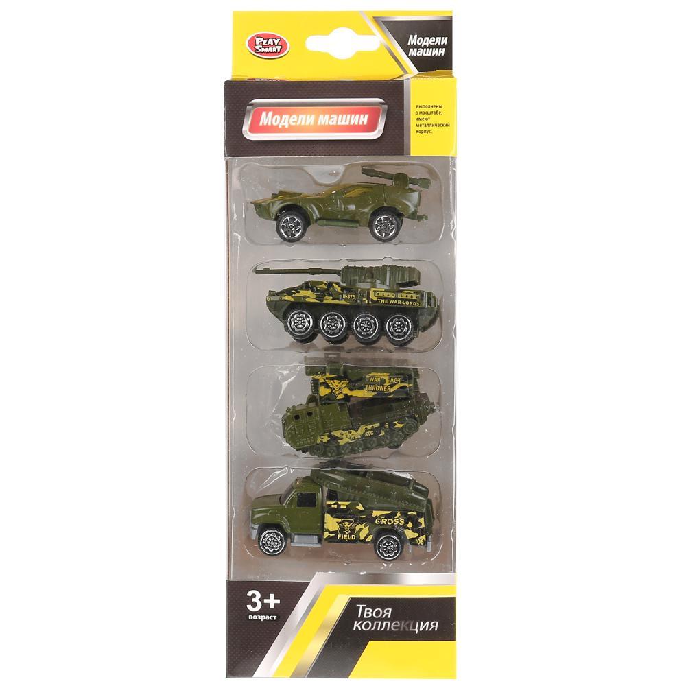 Купить Набор машин Play Smart Военная техника, 4 шт., PLAYSMART, Военный транспорт