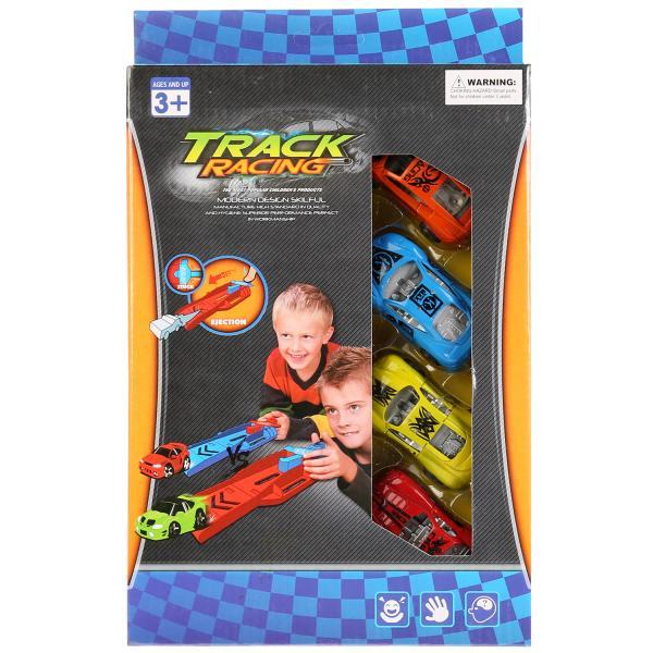 Купить Набор машинок Shantou Gepai Track Racing с пусковым механизмом B1479420, Наборы игрушечного транспорта