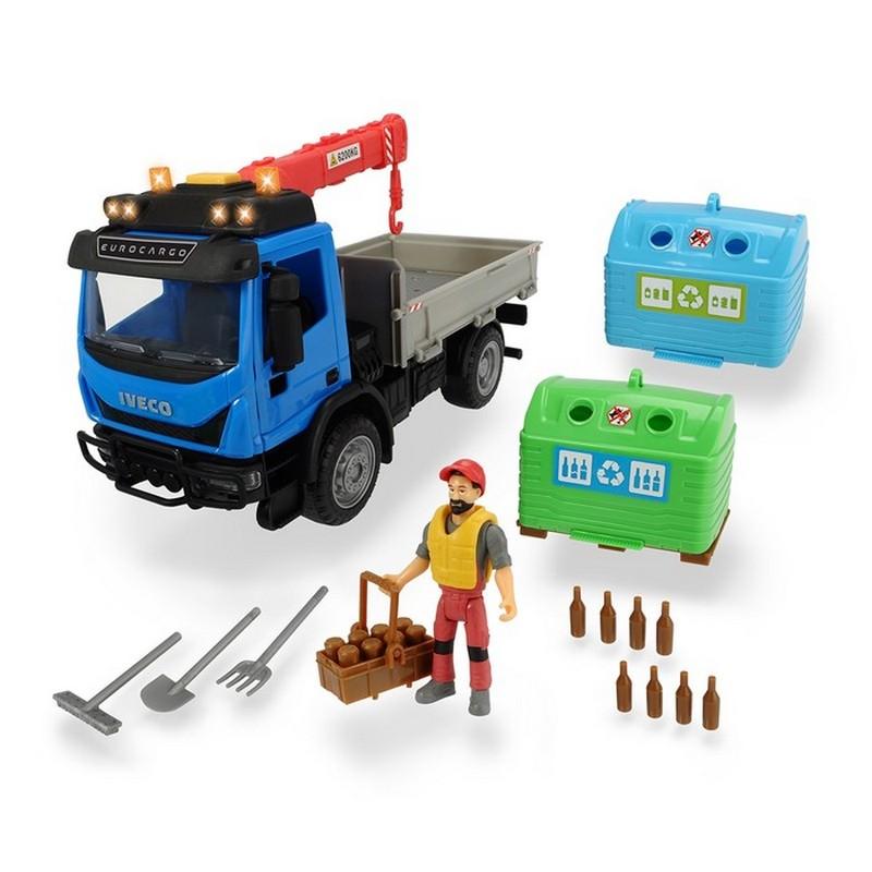 Купить Набор перевозчика стеклотары Dickie Playlife 7 предметов, 25 см, Dickie Toys,