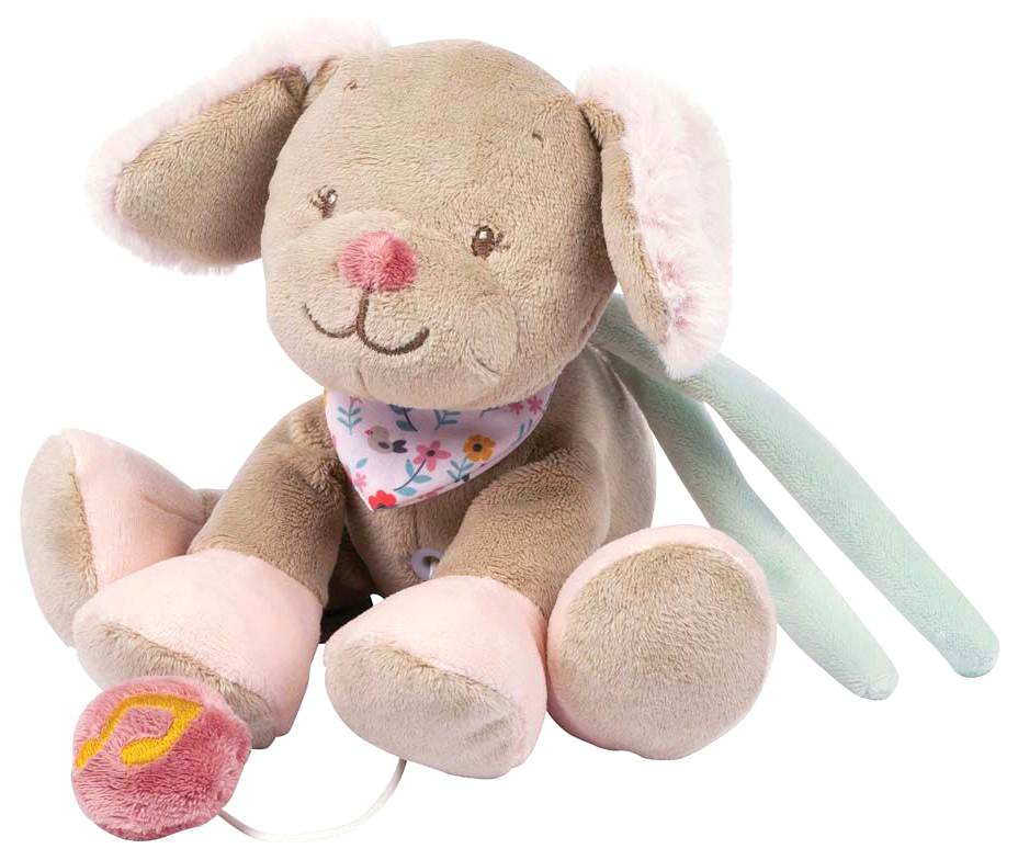 Купить Игрушка мягкая Nattou Musical Soft toy MINI Iris & Lali Собачка музыкальная 631082,