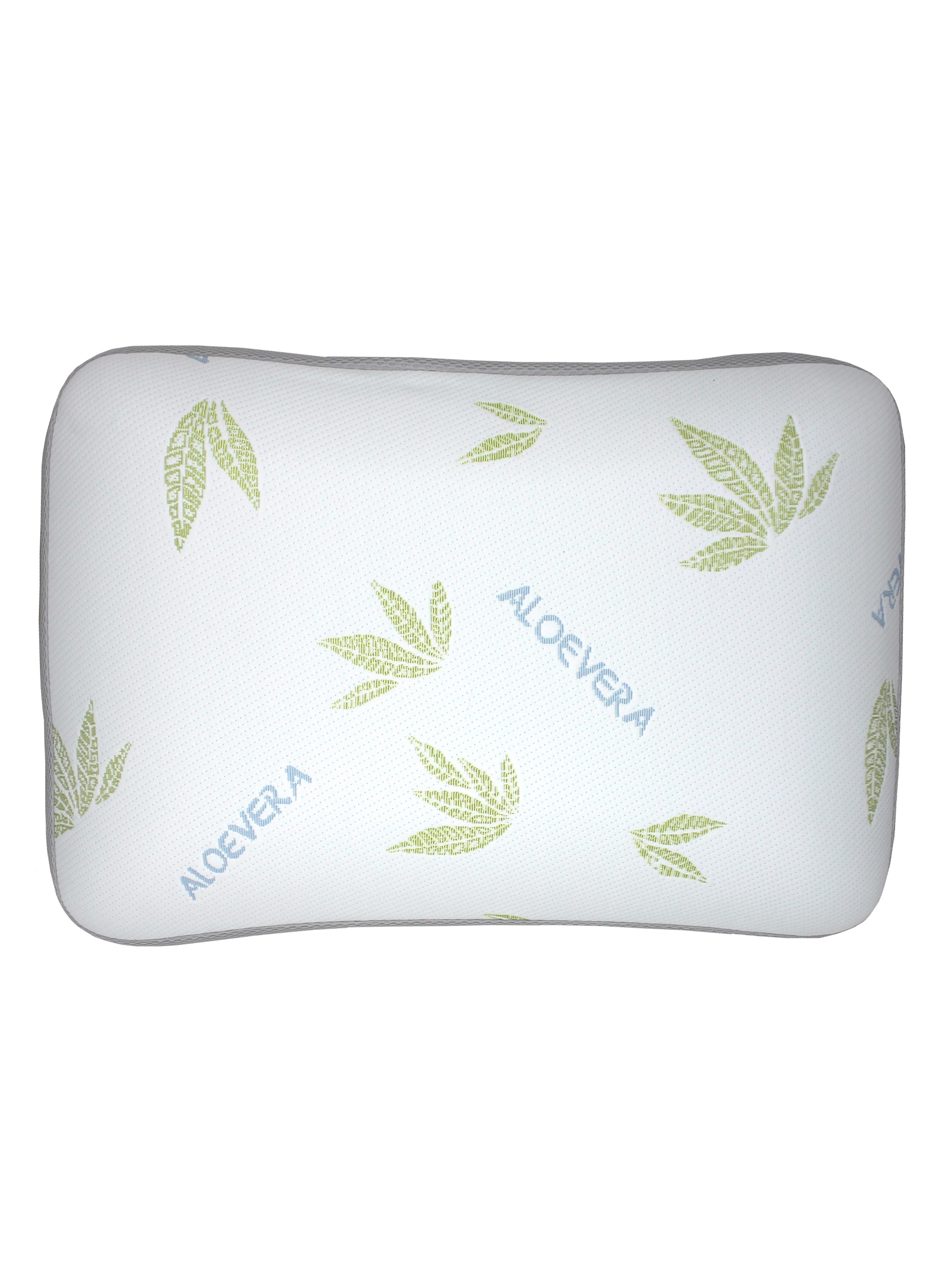 Подушка классическая с эффектом памяти Алоэ с сеткой 70х50см