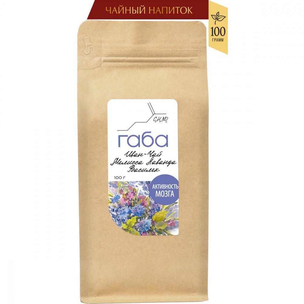 Чайный напиток «ГАБА иван-чай «Активность мозга» с мелиссой, лавандой и васильком», 100 г