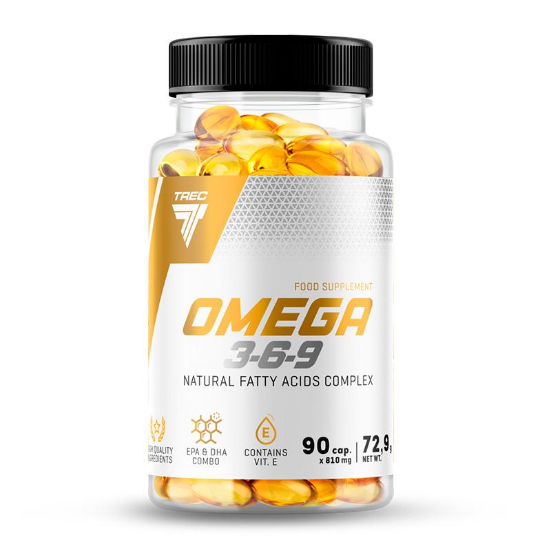 Купить Омега жиры Trec Nutrition Omega-3-6-9, 90 капс, Омега жиры Trec Nutrition Omega-3-6-9 капсулы 90 шт.