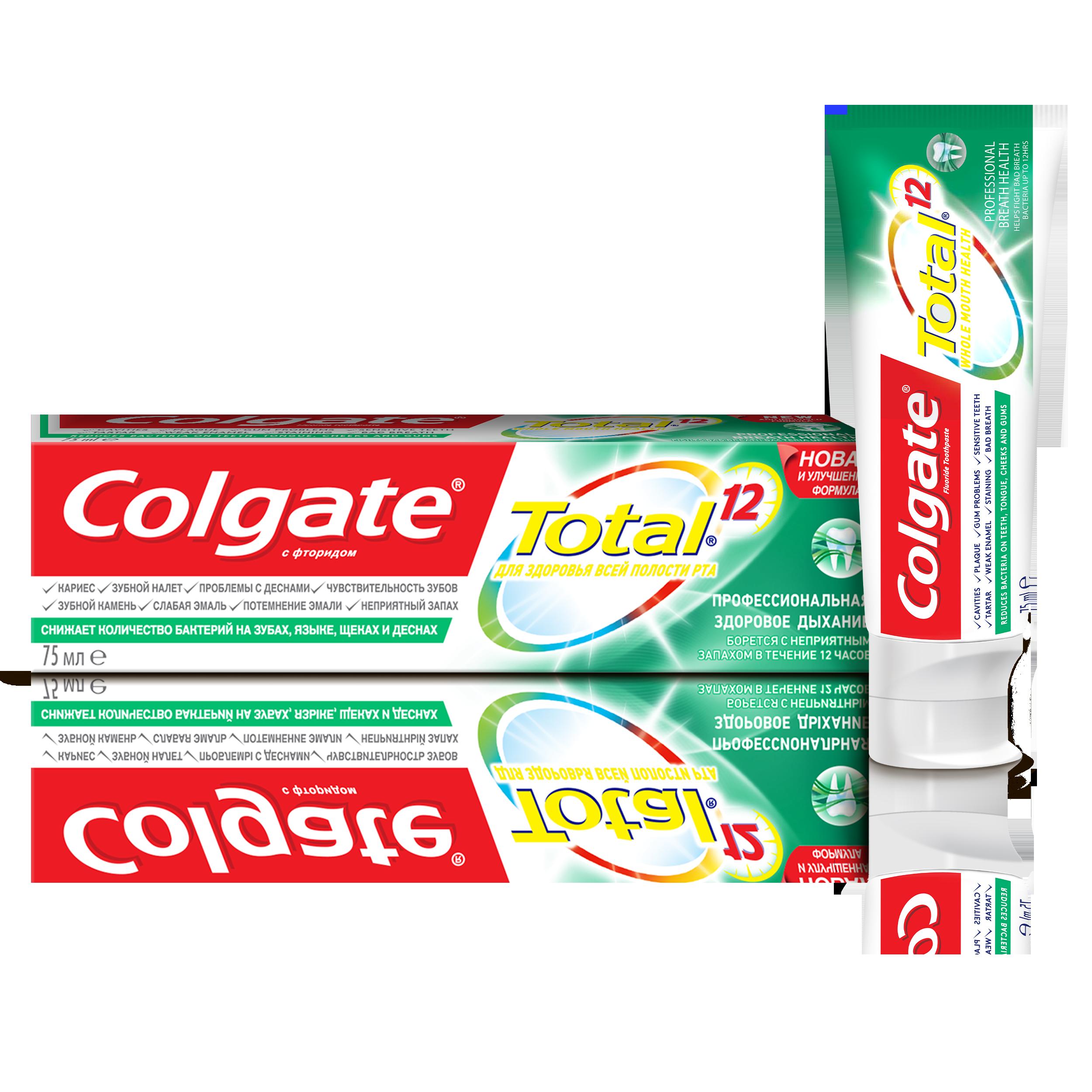 Зубная паста Colgate total 12 Pro Здоровое