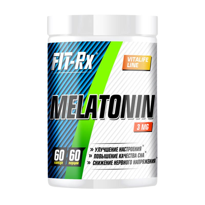 Купить Мелатонин FIT-Rx Melatonin 3 мг, 60 капс, Мелатонин FIT-Rx Melatonin 3 мг капсулы 60 шт.