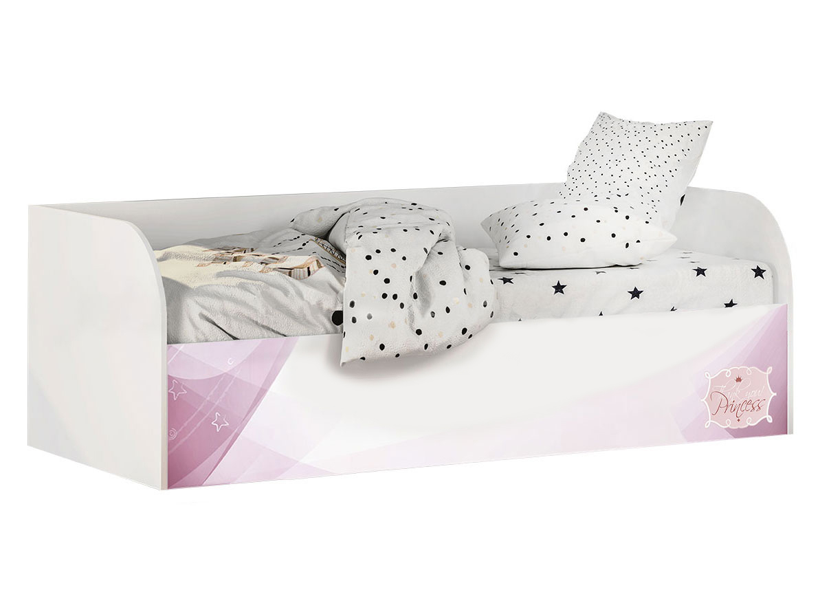 Купить Трио Кровать детская (с подъёмным механизмом) КРП-01 Белый, Без бортика, Без мягкой спинки, Детская кровать BTS Трио Кровать детская с подъёмным механизмом КРП-01 Белый,