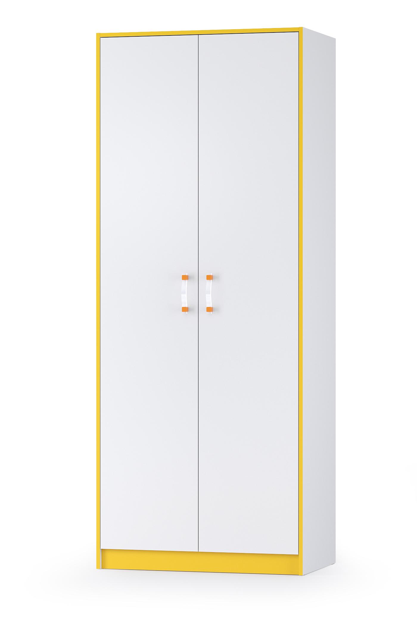 Шкаф двухдверный Mobi Альфа 13.42 солнечный свет/белый премиум, 87х53х218 см