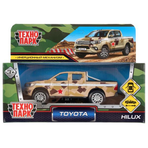 Коллекционная модель Технопарк Toyota Hilux камуфляж инерционная, 12 см