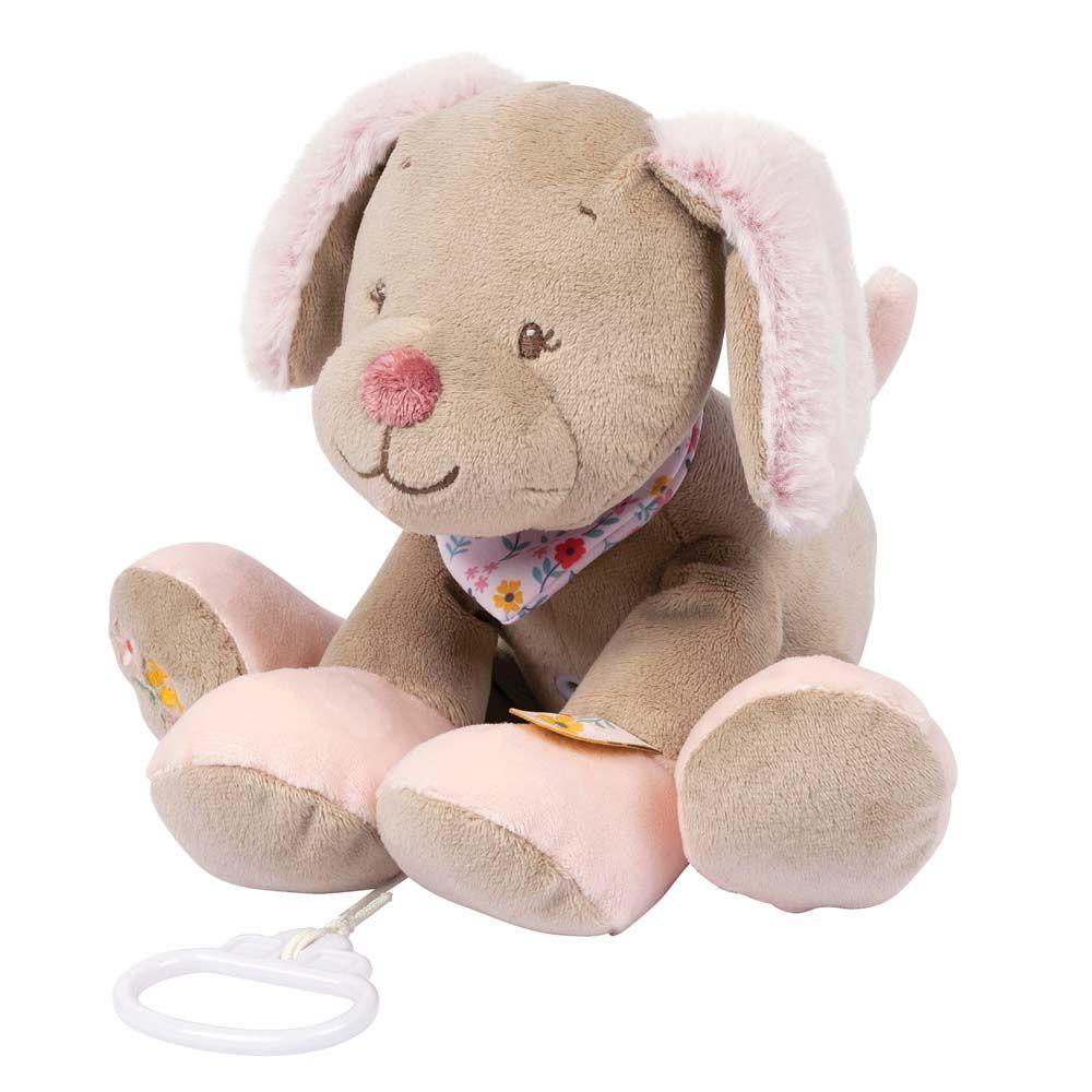 Купить Игрушка мягкая Nattou Musical Soft toy Iris & Lali Собачка музыкальная 631068,
