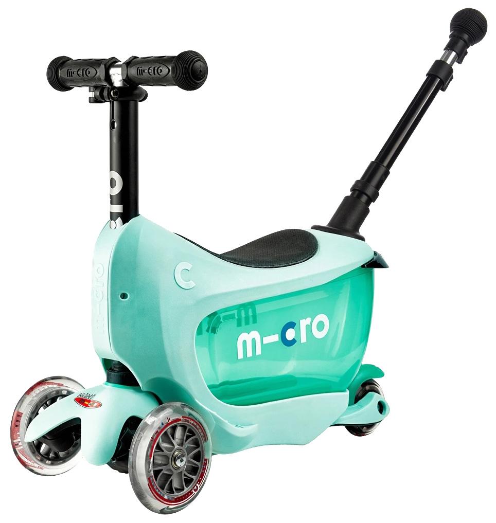 Купить Самокат-беговел детский трехколесный Micro Mini2GO Deluxe Plus Mint,
