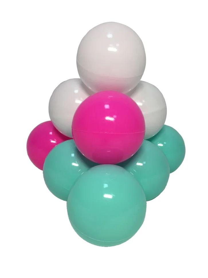 Комплект шариков Детский праздник (50шт: мятный, белый,