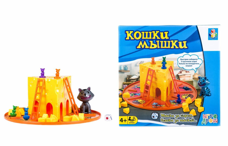 Настольная игра 1TOY Кошки-Мышки