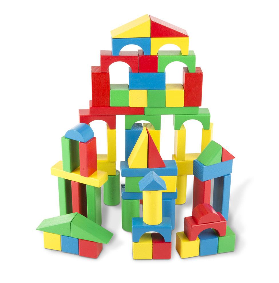 Купить Набор цветных блоков (100 дет.), Melissa & Doug,