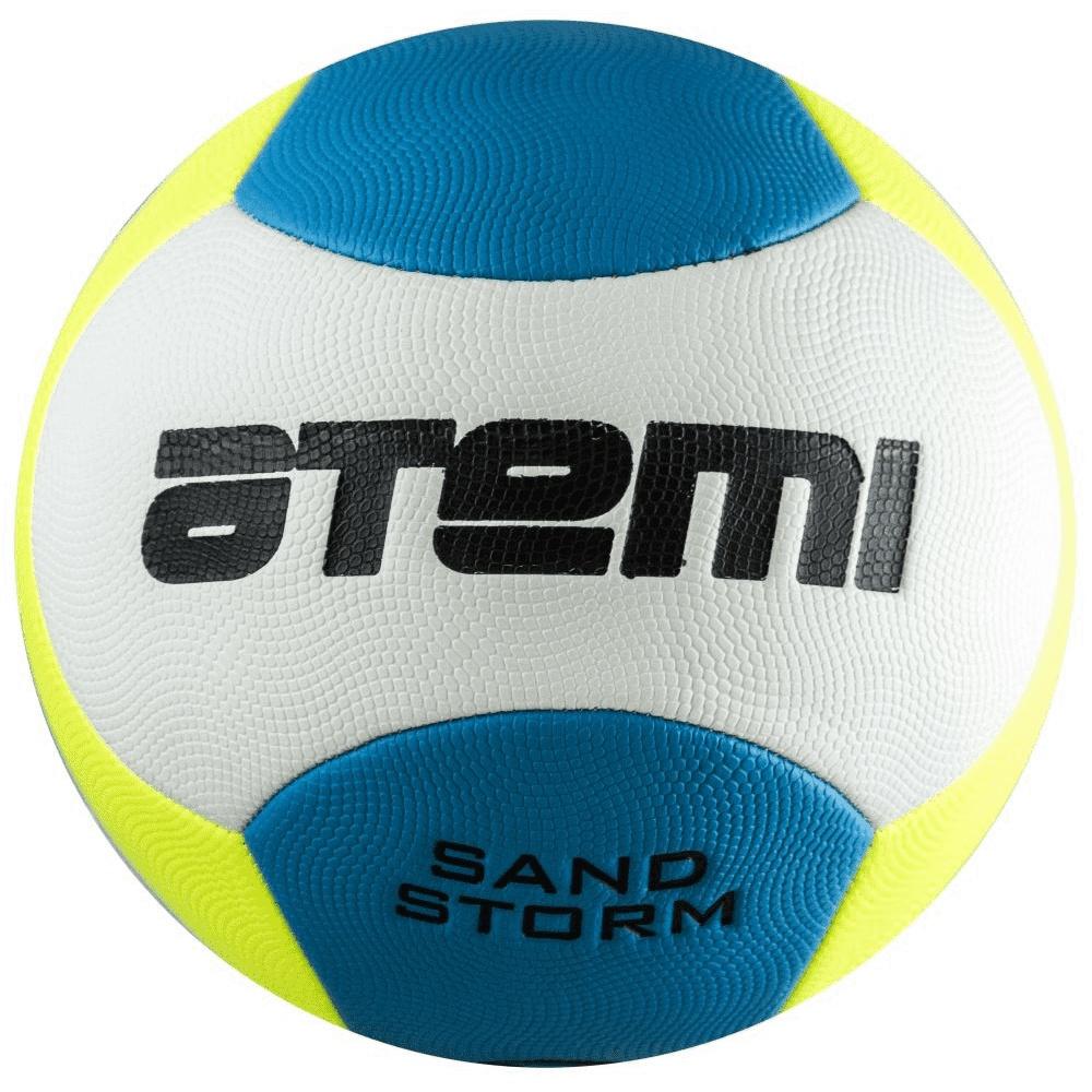 Футбольный мяч Atemi Sand Storm №5 белый/голубой/желтый Sand Storm по цене 480