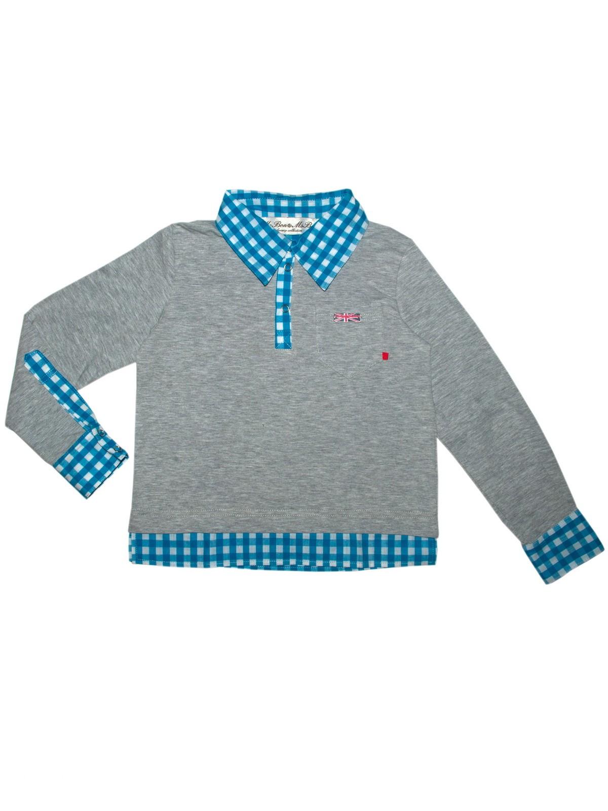 Сорочка для мальчика Bon&Bon р.92 98 цв.серый,