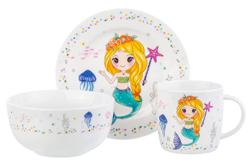 Набор посуды Elan Gallery Русалка с золотыми