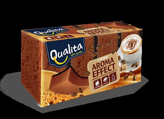Губки кухонные QUALITA AROMA EFFECT 4шт