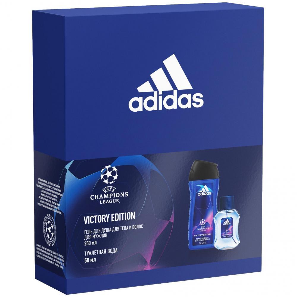 Купить Подарочный набор Adidas Victory Edition туалетная вода 50мл + гель для душа 2в1 250мл, Victory Edition туалетная вода + гель для душа