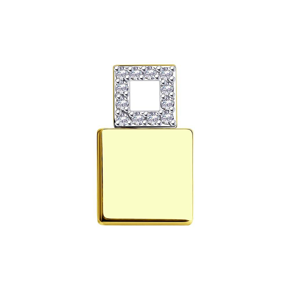 Серьги из белого золота с сапфиром SOKOLOV 2021062-3