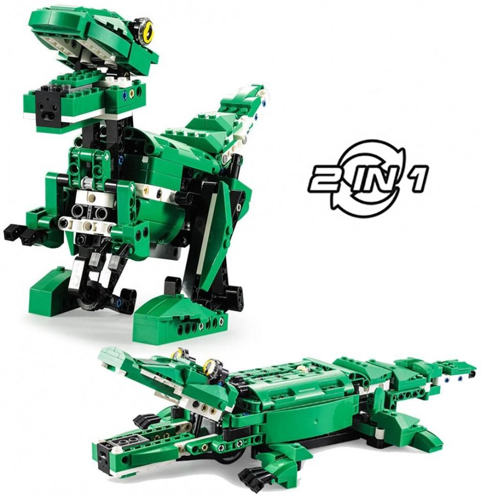Купить Конструктор CaDA динозавр/крокодил (450 деталей) - C51035W, Double E,