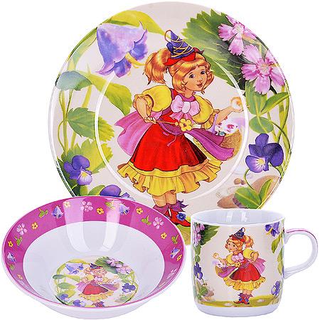Набор детской посуды LORAINE Волшебница, 3 предмета