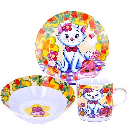 Набор детской посуды LORAINE Котенок, 3 предмета