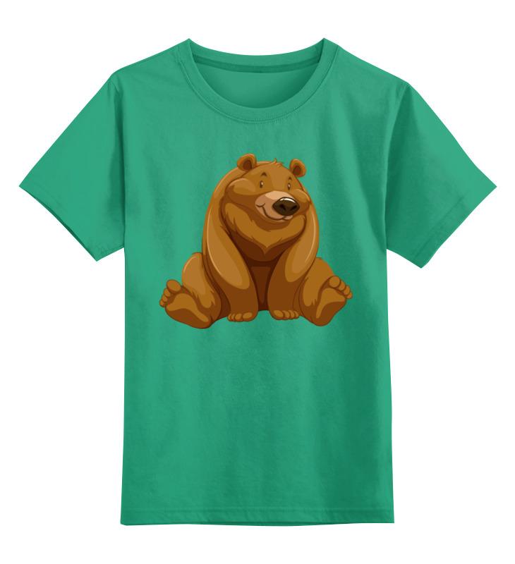 Детская футболка Printio Медведь цв.зеленый р.128 0000002630187 по цене 990