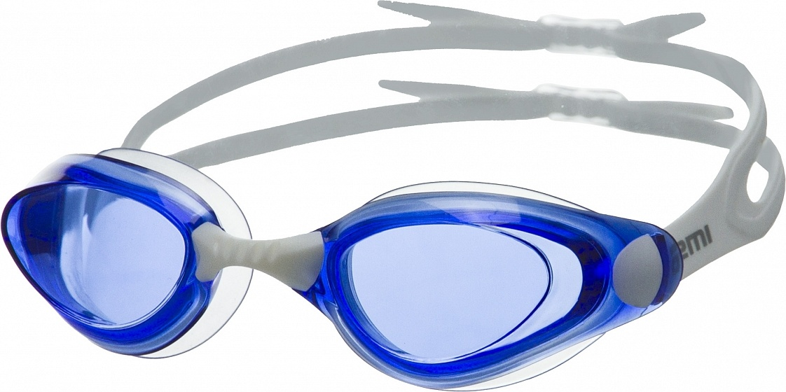 Очки для плавания Atemi, силикон (бел/син), B401 фото